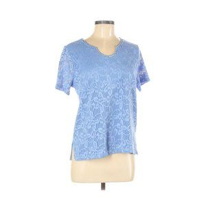 ⚡Napa Valley Blue Floral Short Sleeve Top